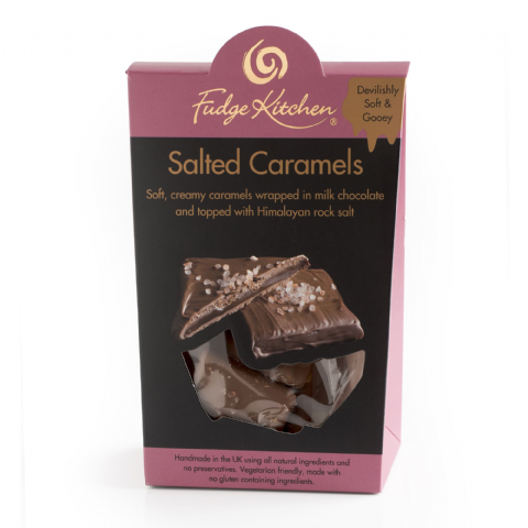 Salted Caramels In Milk Chocolate  By Fudge Kitchen 125g